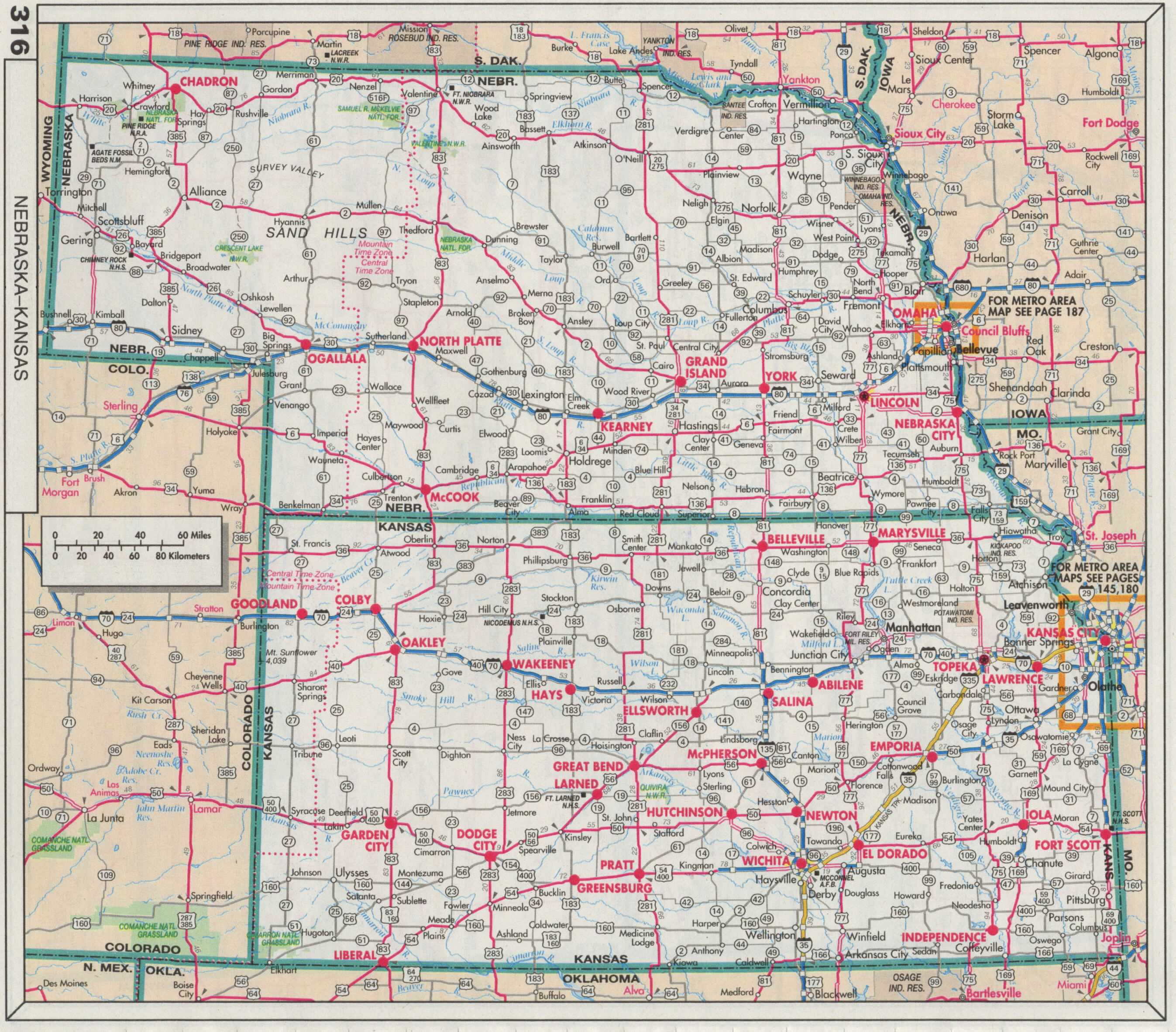 The Web Shell - Road map of kansas