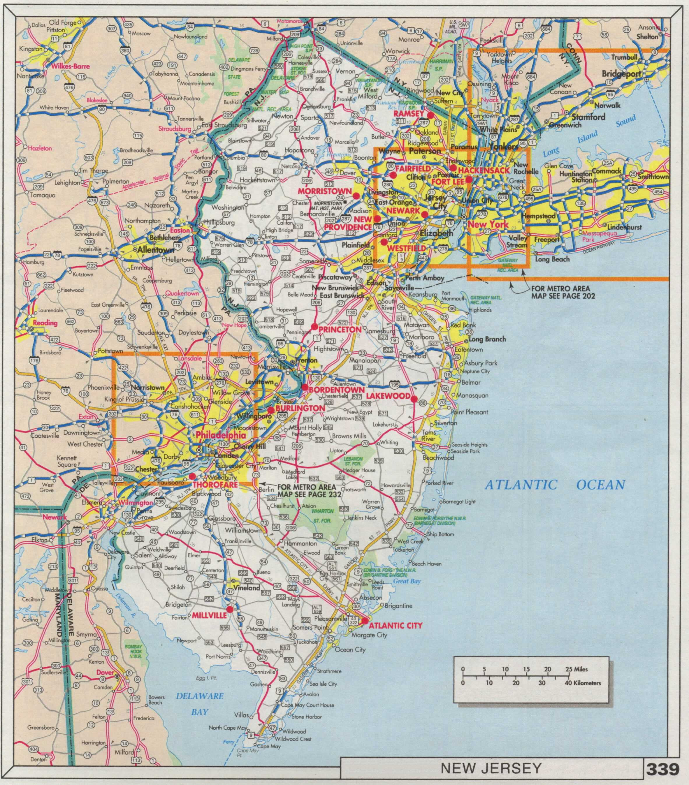 The Web Shell - Maps of nj