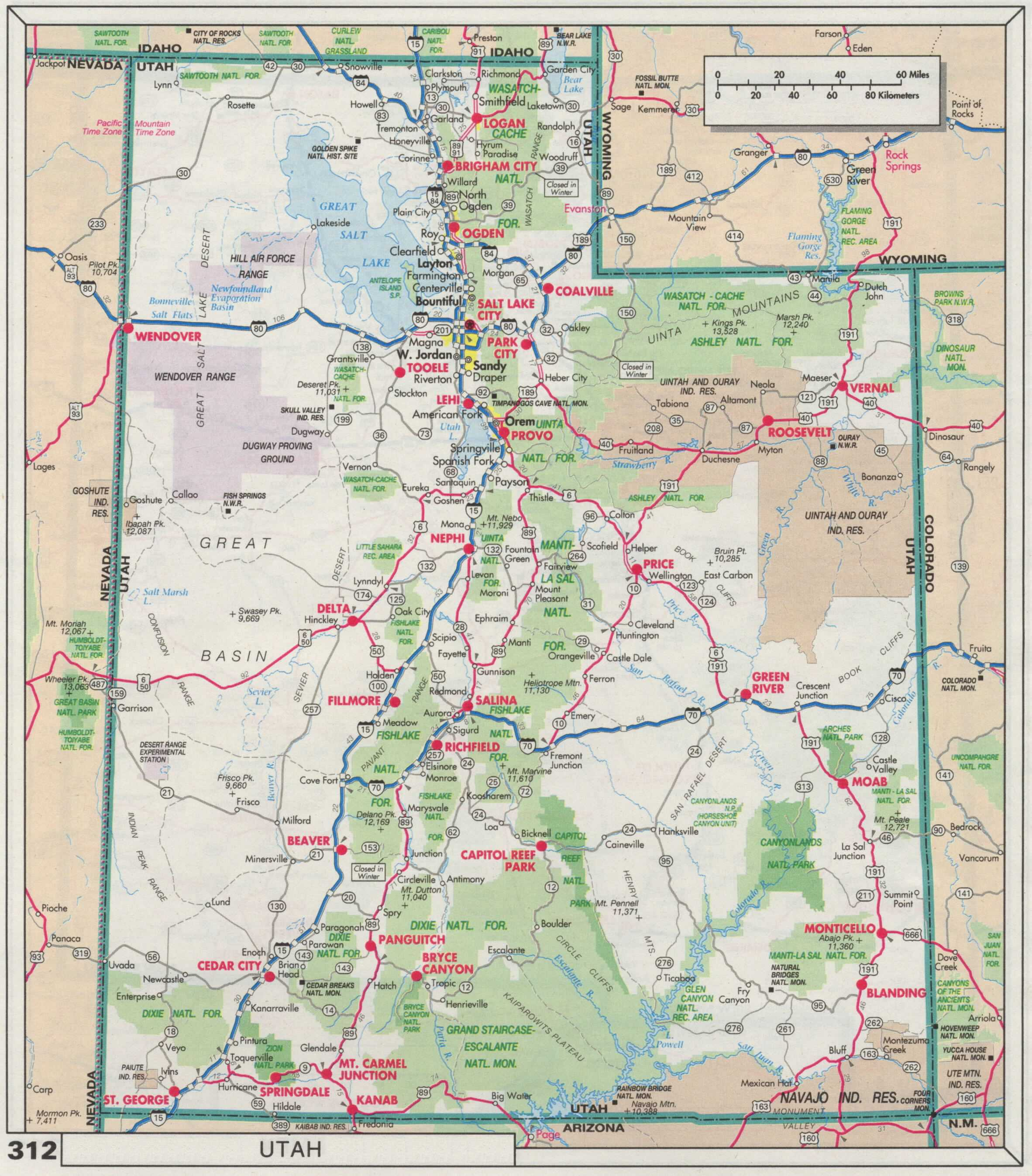 The Web Shell - Utah road map